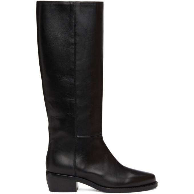 Legres Black Leather Riding Boots