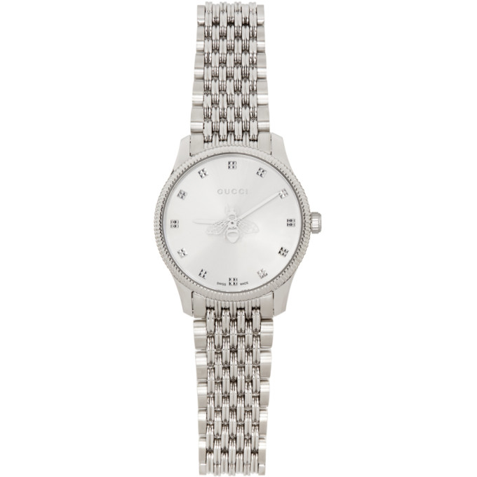 Gucci GUCCI SILVER 29MM G-TIMELESS BEE WATCH
