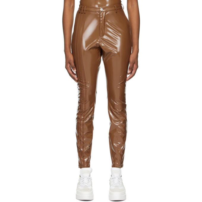 Adidas X Ivy Park ADIDAS X IVY PARK BROWN LATEX TROUSERS