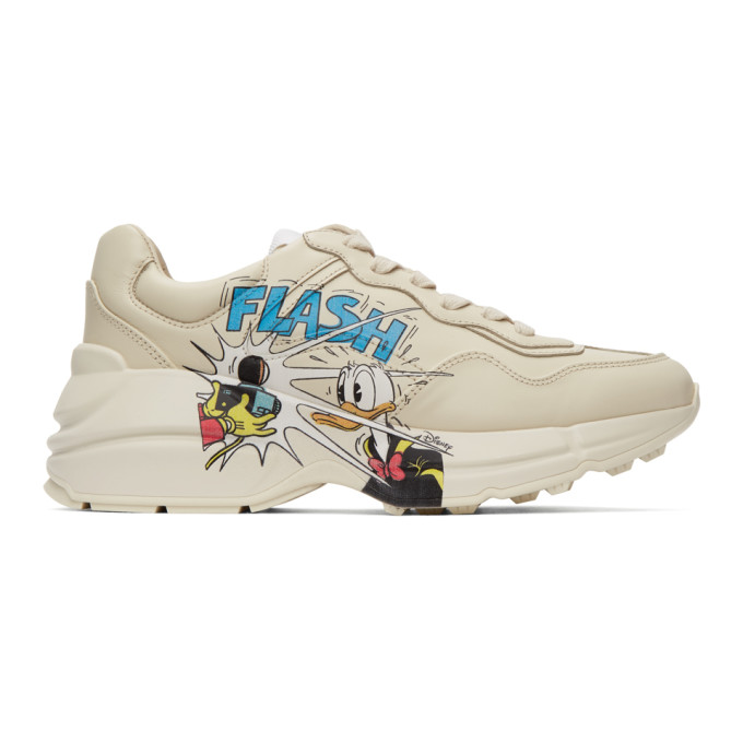Gucci 灰白色 Disney 联名 Donald Duck Rhyton 运动鞋
