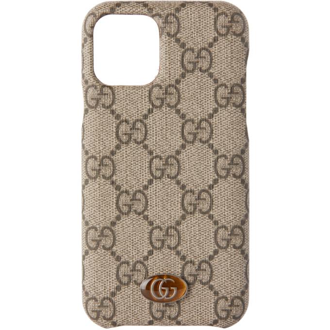 Gucci Beige Ophidia Gg Supreme Iphone 11 Pro Case In 9742 Beige