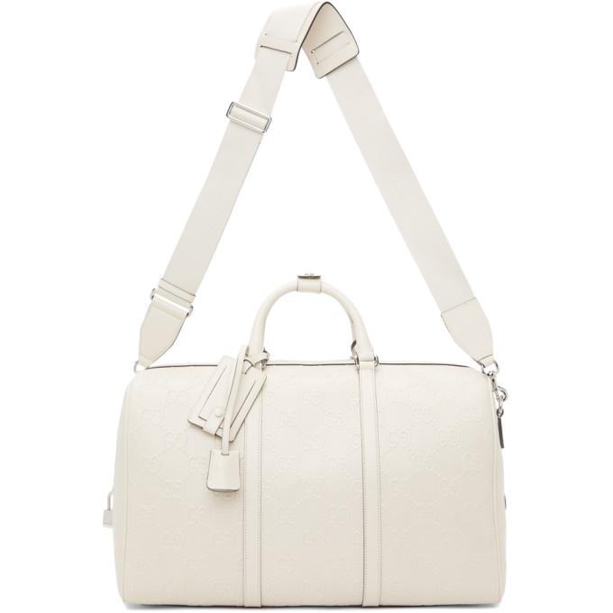 Gucci 白色 GG Embossed 行李包