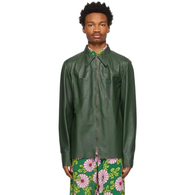Gucci グリーン シャツ