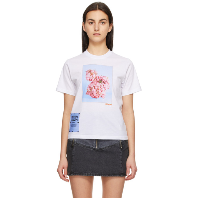 Mcq By Alexander Mcqueen MCQ WHITE FASCINATED FLOWERS T-SHIRT