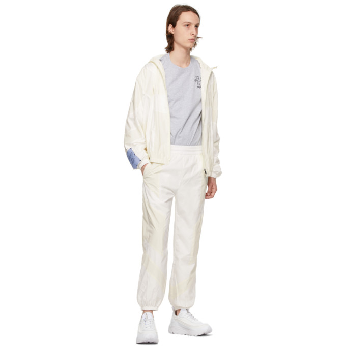 MCQ BY ALEXANDER MCQUEEN Linings MCQ OFF-WHITE GLOW-IN-THE-DARK TRACK PANTS