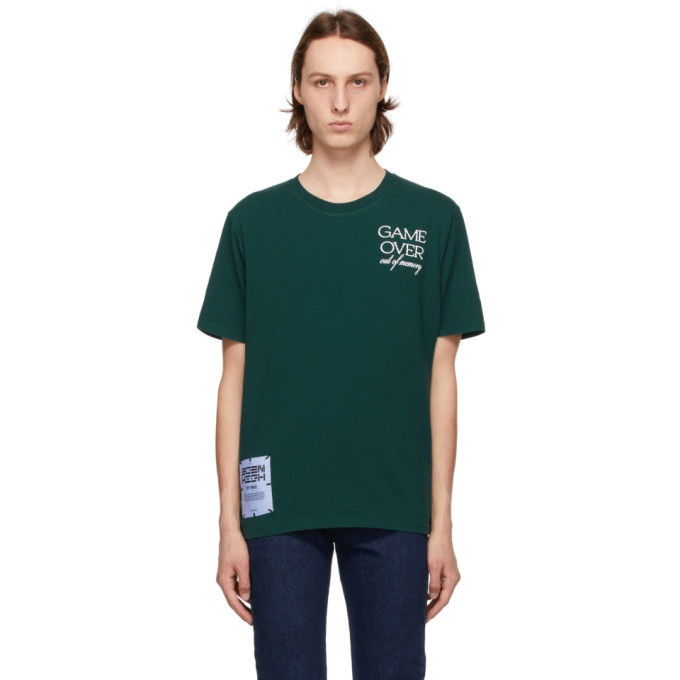 Mcq By Alexander Mcqueen Tops MCQ GREEN RELAXED LOGO GAME OVER T-SHIRT