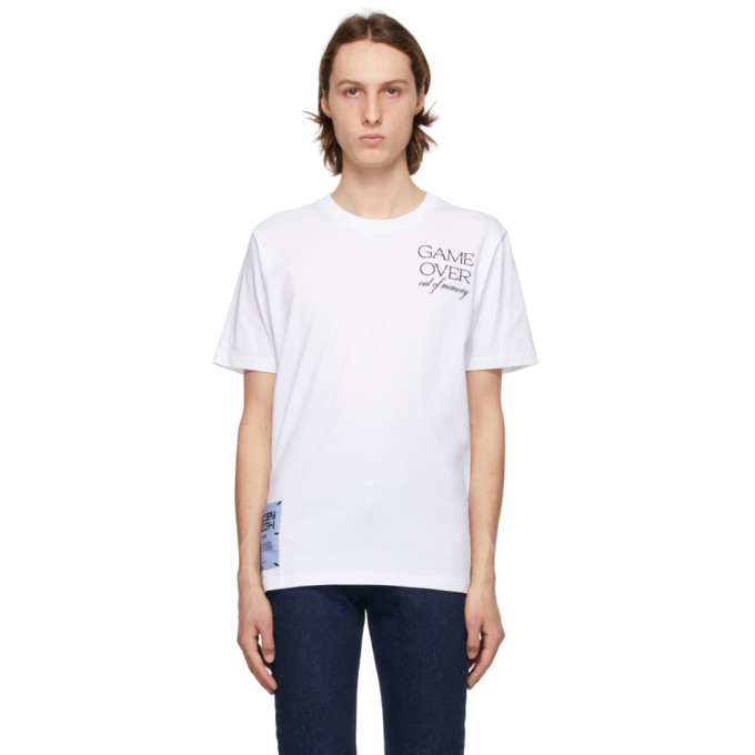 Mcq By Alexander Mcqueen MCQ WHITE RELAXED LOGO GAME OVER T-SHIRT