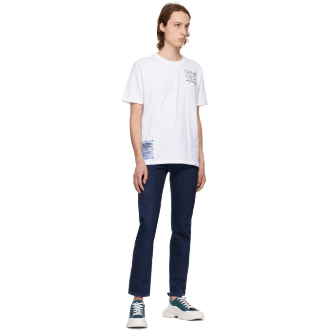 MCQ BY ALEXANDER MCQUEEN Cottons MCQ WHITE RELAXED LOGO GAME OVER T-SHIRT