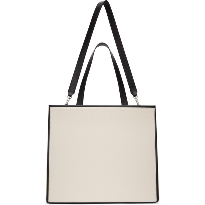 Peter Do Medea Bicolor Airport Tote Bag In Eggshell