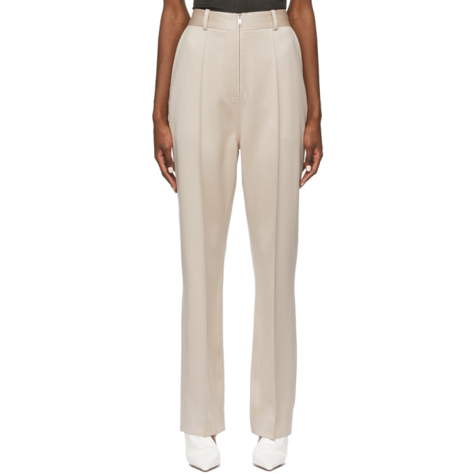 Peter Do Wools PETER DO TAUPE EVERYDAY TROUSERS