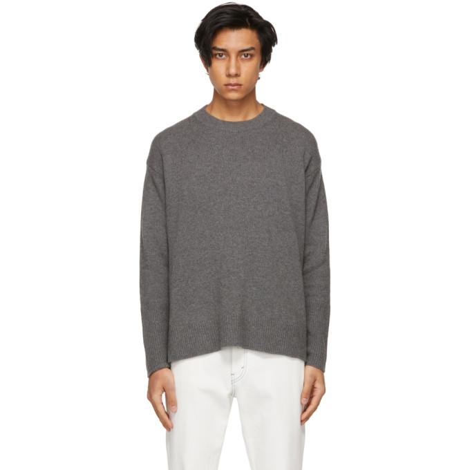 Stella Mccartney Grey Shared Regenerated Cashmere Sweater In 1262 Grey Melange