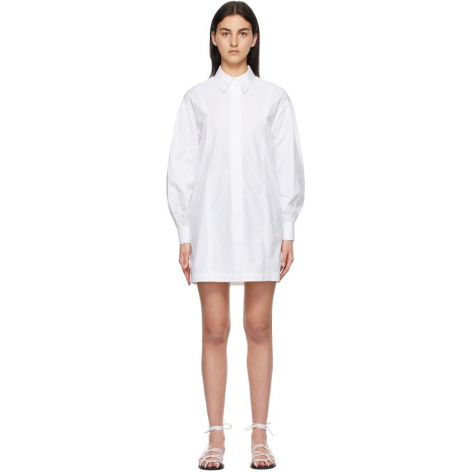Loulou Studio Clothing LOULOU STUDIO WHITE ZENA SHIRT DRESS