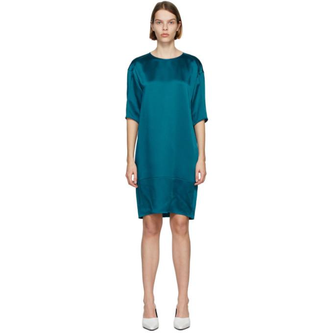 Nina Ricci NINA RICCI BLUE SILK T-SHIRT DRESS