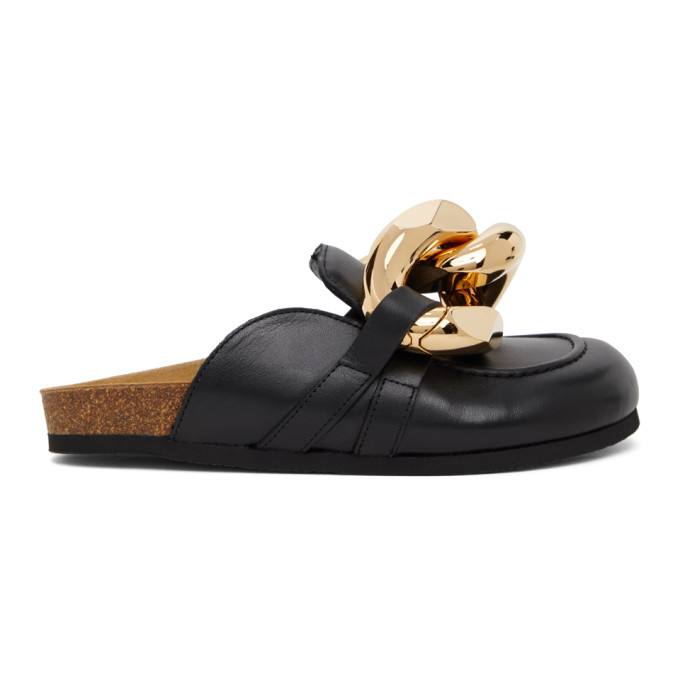 Jw Anderson JW ANDERSON BLACK CHAIN SLIPPERS