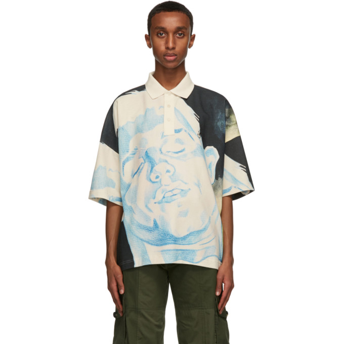 Jw Anderson Cottons JW ANDERSON BLUE OVERSIZED POLO