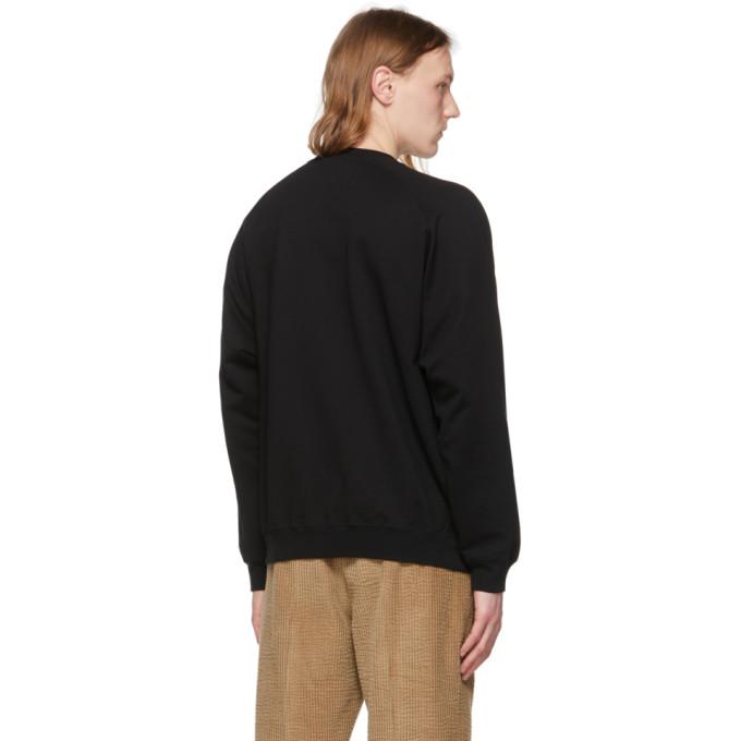 AURALEE Sweatshirts AURALEE BLACK SUPER SOFT BIG SWEATSHIRT