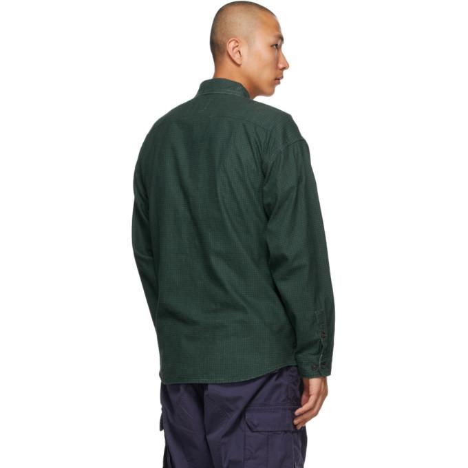 VISVIM Cottons VISVIM GREEN CHECK LUMBER KHADI SHIRT