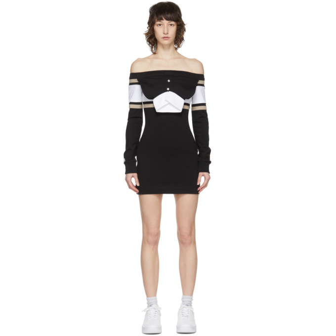 Lourdes LOURDES BLACK AND WHITE PULLOVER DRESS