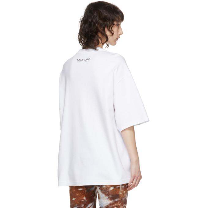 LOURDES Cottons LOURDES WHITE LOGO T-SHIRT