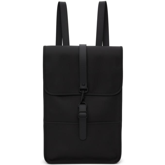 Rains Mini Waterproof Backpack In Black