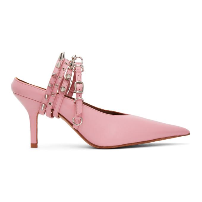 Abra Pink Spike Mules