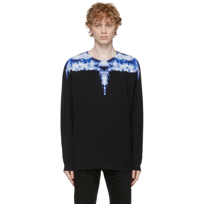 Marcelo Burlon County Of Milan Black & Blue Wings Long Sleeve T-shirt