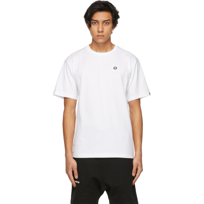 Aape By A Bathing Ape T-shirts AAPE BY A BATHING APE WHITE ONE POINT T-SHIRT