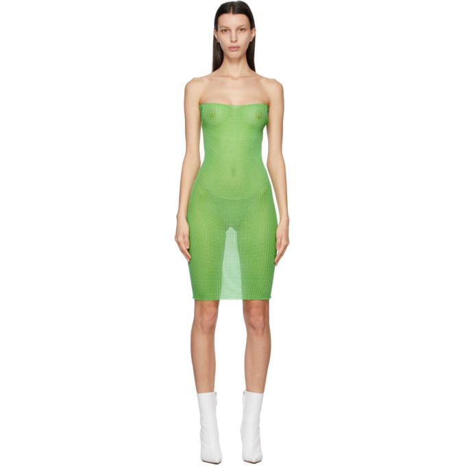A. Roege Hove Green Double Tube Dress