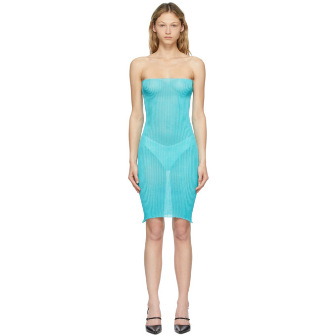 A. Roege Hove Blue Tube Dress In 043 Azure