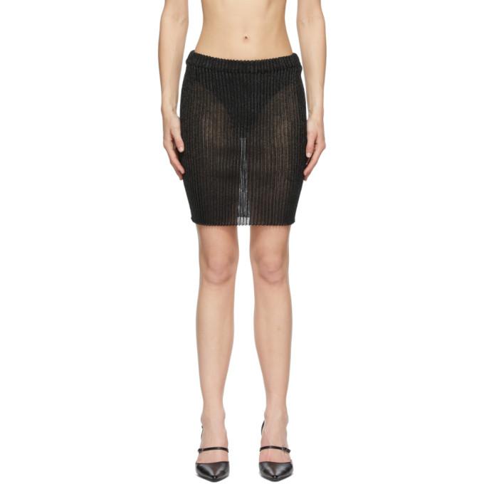 A. Roege Hove Black Tube Miniskirt In 050 Black