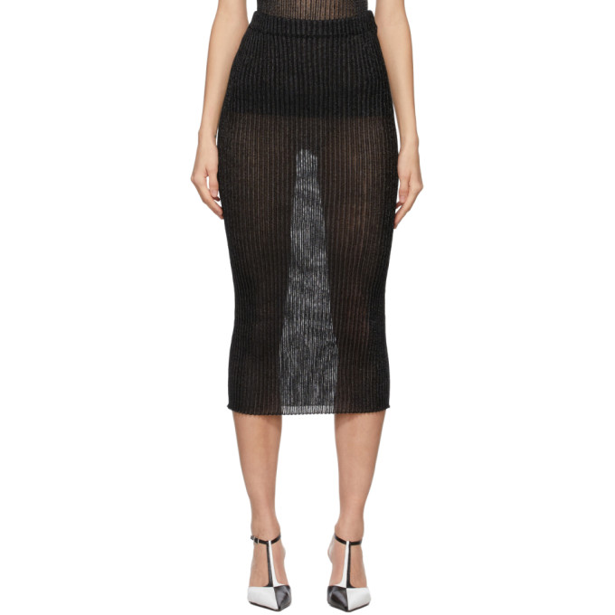A. Roege Hove Black Tube Skirt In Black/blk