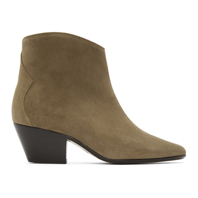 Isabel Marant Taupe Dacken Ankle Boots