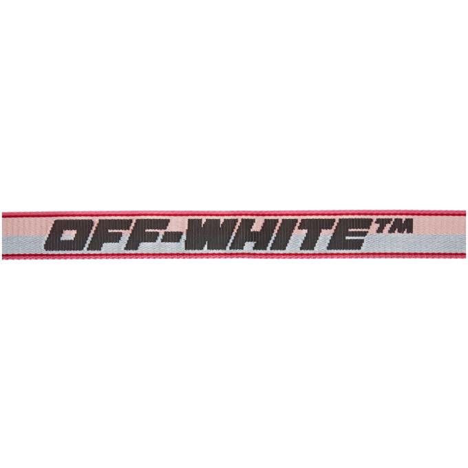 OFF-WHITE Belts OFF-WHITE PINK MINI NEW LOGO INDUSTRIAL BELT