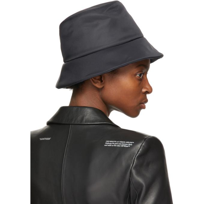 OFF-WHITE Hats OFF-WHITE BLACK NYLON RAIN BUCKET HAT
