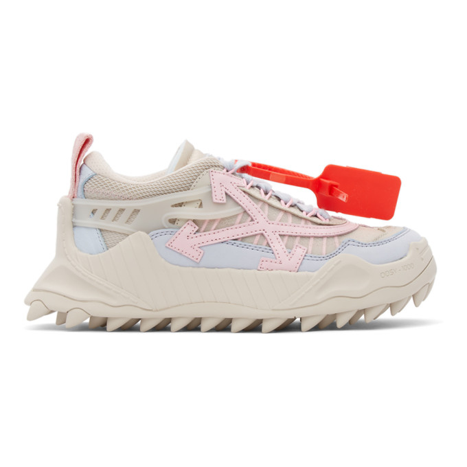 Off-White Leathers OFF-WHITE BEIGE AND PINK ODSY-1000 SNEAKERS