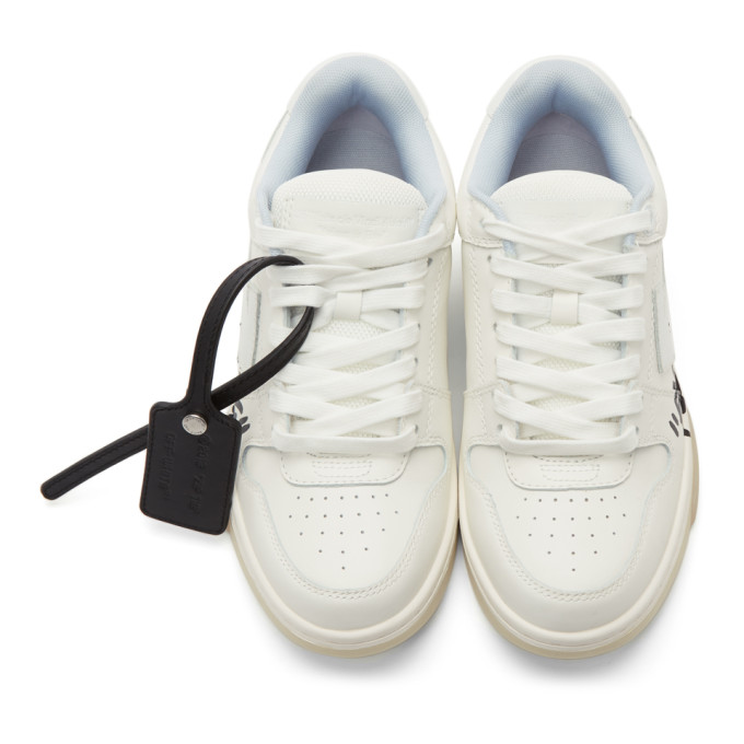 OFF-WHITE Leathers OFF-WHITE WHITE OUT OF OFFICE SNEAKERS