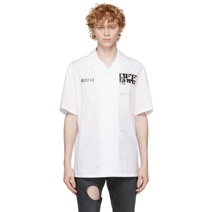 Off-White Tops OFF-WHITE WHITE TECH MARKER HOLIDAY SHORT SLEEVE SHIRT