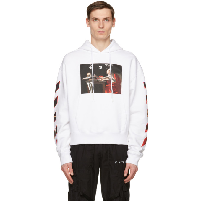 Off-White OFF-WHITE WHITE CARAVAGGIO PAINTING HOODIE