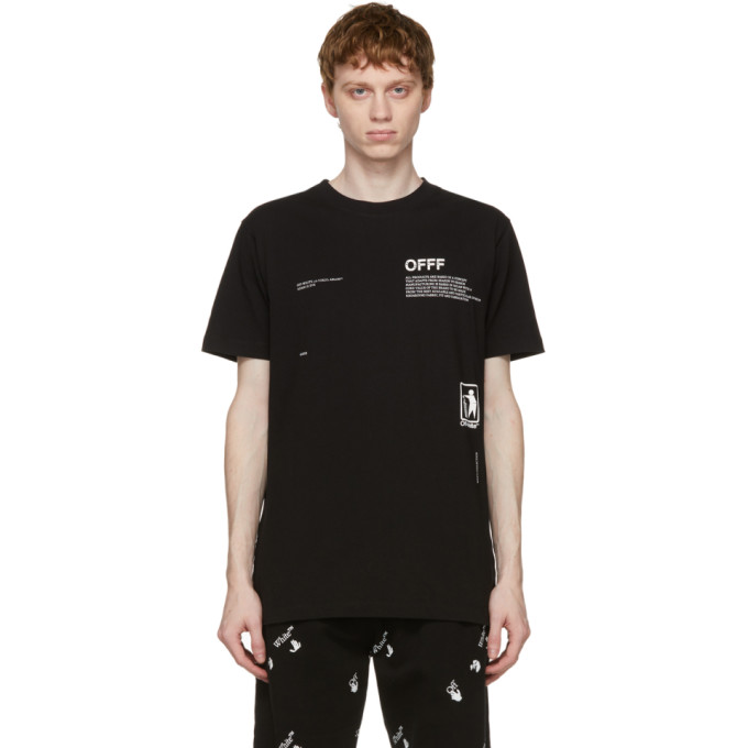 Off-White Cottons OFF-WHITE BLACK TAKE CARE ARROW T-SHIRT