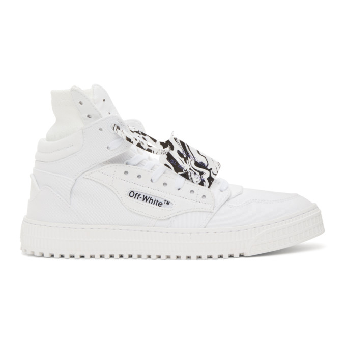 Off-White OFF-WHITE WHITE CANVAS OFF COURT 3.0 HIGH-TOP SNEAKERS