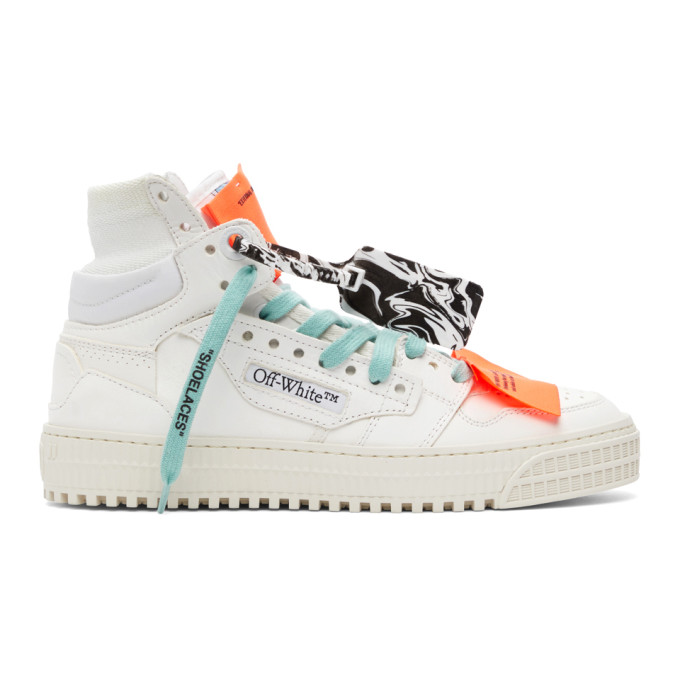 Off-White OFF-WHITE WHITE AND PURPLE OFF COURT 3.0 HIGH-TOP SNEAKERS