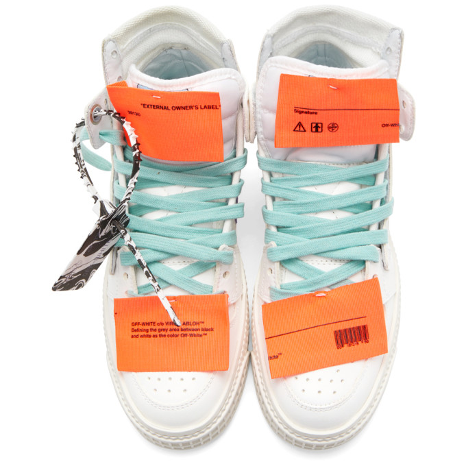 OFF-WHITE Canvases OFF-WHITE WHITE AND PURPLE OFF COURT 3.0 HIGH-TOP SNEAKERS