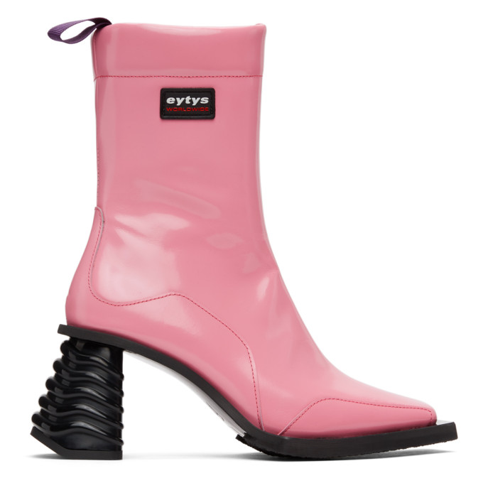 Eytys EYTYS PINK LEATHER GAIA BOOTS