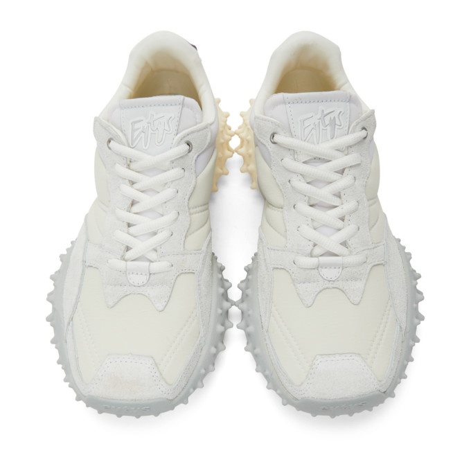 EYTYS Suedes EYTYS OFF-WHITE AND GREY SUEDE FUGU SNEAKERS
