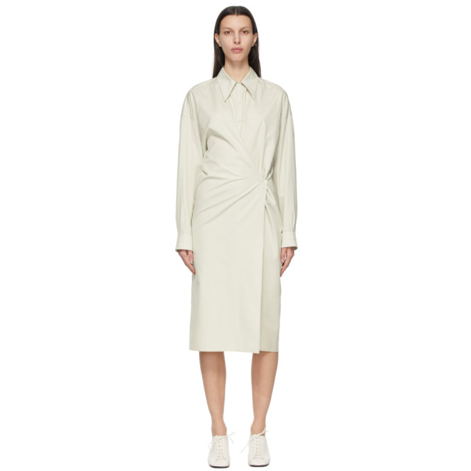 Lemaire LEMAIRE GREEN TWISTED DRESS