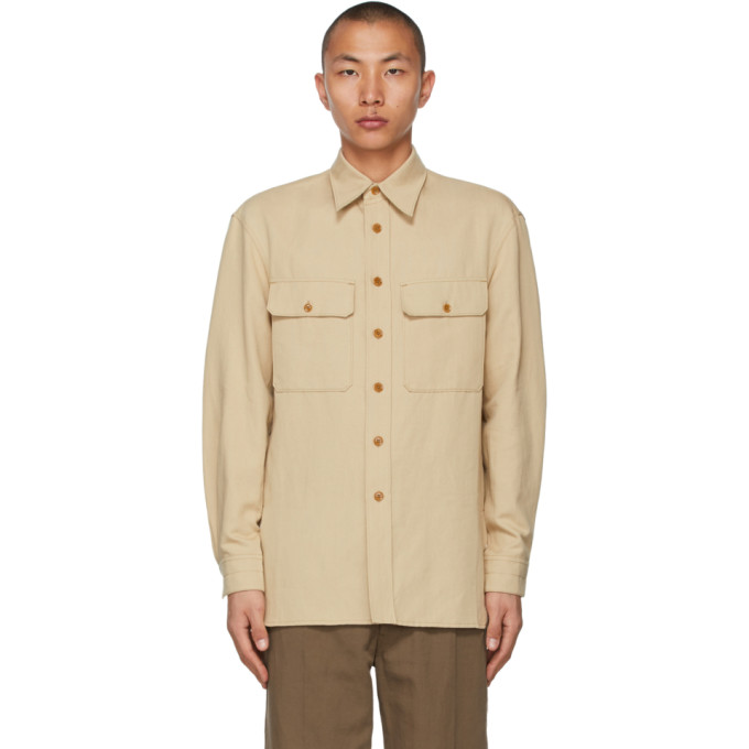 Lemaire Shirts LEMAIRE BEIGE OFFICER SHIRT