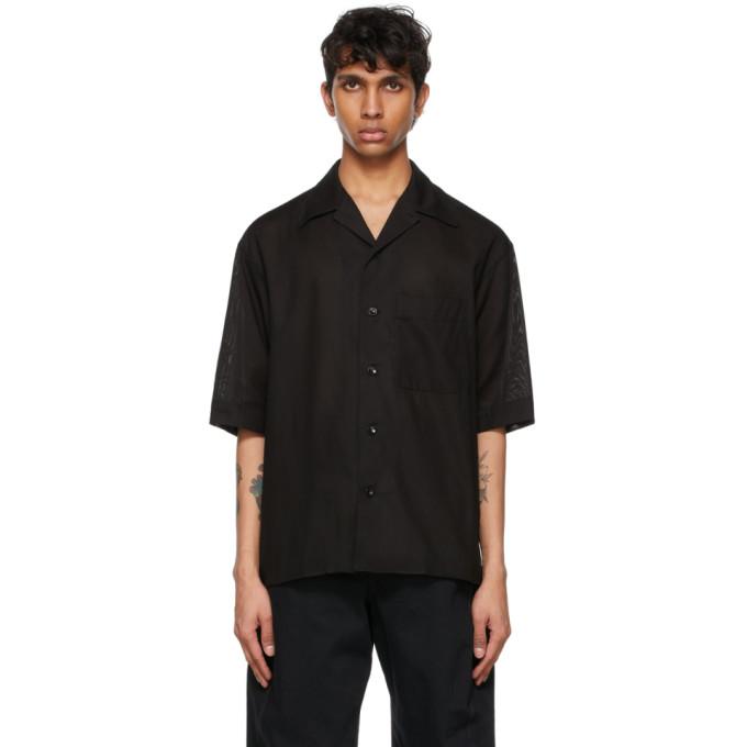 Lemaire Cottons LEMAIRE BLACK COTTON SHORT SLEEVE SHIRT
