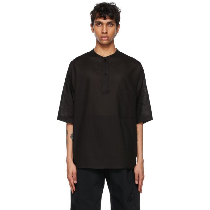 Lemaire Cottons LEMAIRE BLACK COTTON HENLEY