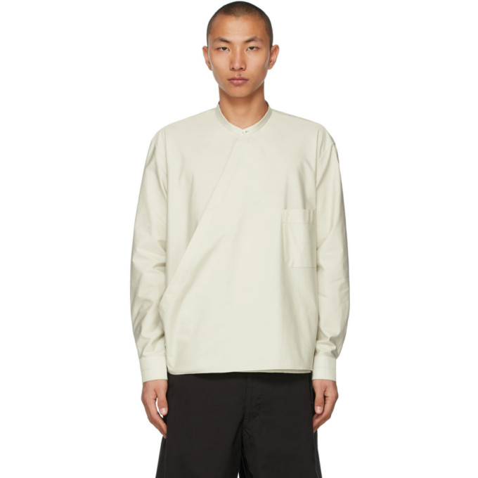 Lemaire LEMAIRE GREEN WRAPOVER SHIRT