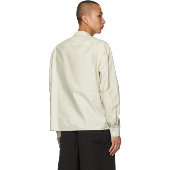 LEMAIRE Shirts LEMAIRE GREEN WRAPOVER SHIRT